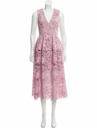 Nicholas Lace Pattern Midi Length Dress w/ Tags Purple