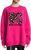Marc Jacobs Sequined MTV Sweatshirt, Pink