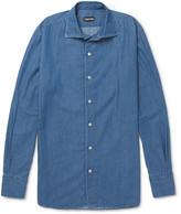 Tom Ford Cutaway-Collar Cotton-Chambray Shirt