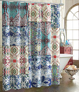 Poetic Wanderlust by Tracy Porter Poetic WanderlustTM by Tracy Porter Astrid Mixed-Print Cotton Shower Curtain