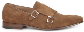 Bruno Magli Mino Suede Monk Strap Shoes