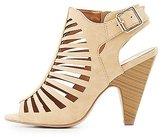 Charlotte Russe Laser Cut Caged Sandals