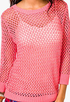 Forever 21 Open Knit Sweater