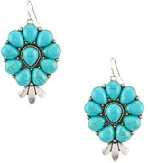 Natasha Accessories Turquoise Teardrop Earrings