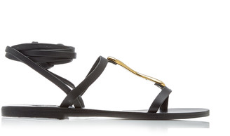 Ancient Greek Sandals Nemesis Metal-Detailed Leather Lace-Up Sandals