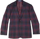 English Laundry Burgundy Plaid Slim Fit Jacket