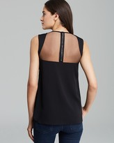Milly Top - Leather Embellished Sleeveless