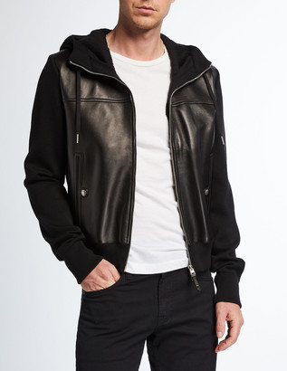 Tom Ford Men's Wool/Lamb Leather Hooded Jacket