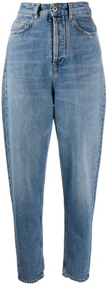 Marcelo Burlon County of Milan High-Waisted Tapered Jeans