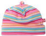 Zutano Striped Cap in Pink