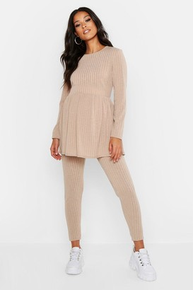 boohoo Maternity Smock Lounge Set
