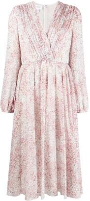 Giambattista Valli Floral Print Midi Dress