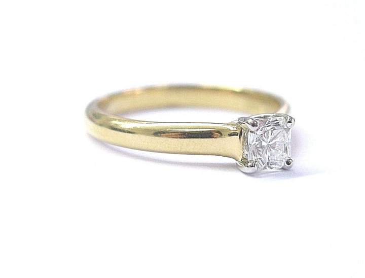Tiffany & Co. 18K Yellow Gold Lucida .39ct of Diamond Ring Size 6