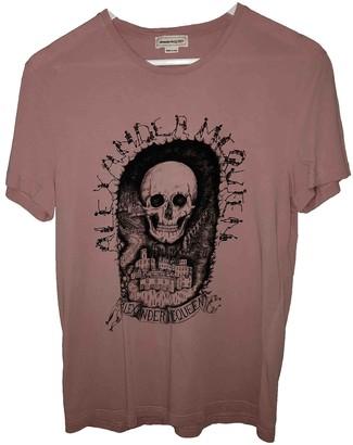 Alexander McQueen Pink Cotton T-shirts