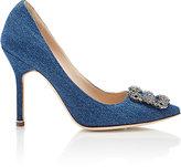 Manolo Blahnik Women's Hangisi Pumps-BLUE