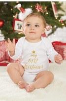 Mud Pie My First Christmas Bodysuit & Santa Hat Set (Baby)