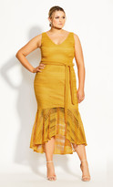 City Chic Simmer Lace Dress - amber