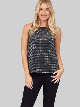 M&Co Izabel sequin swing vest
