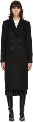 Joseph Black Cam Wool Coat