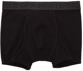 Off-White Three-Pack Black Industrial Tape Boxer Briefs