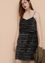 Violeta BY MANGO Sequin Embroidered Dress