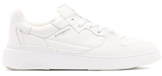 Givenchy Wing Grained-leather Low-top Trainers - White