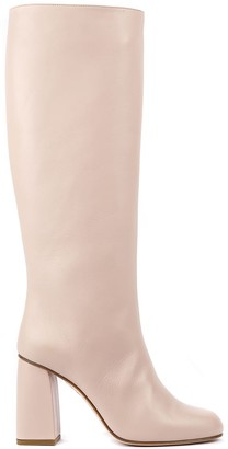 RED Valentino Nude Leather Boots