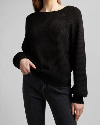 Express Balloon Sleeve Crew Neck Sweater