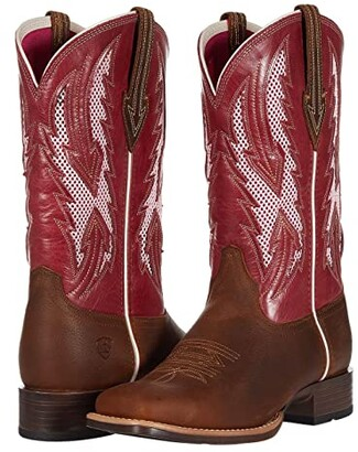 Ariat Blackjack VentTEK (Wheat/Fuchsia) Cowboy Boots