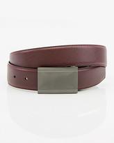 Le Château Reversible Leather-Like Plaque Belt