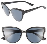 Quay Women's Game On 57Mm Cat Eye Sunglasses - Black/ Blue