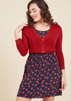 ModCloth The Dream of the Crop Cardigan in Red in S
