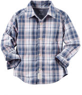 Carter's Poplin Plaid Button-Front Shirt