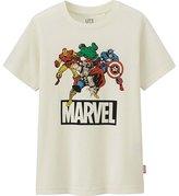 Uniqlo Boys Marvel Short Sleeve Graphic T-Shirt