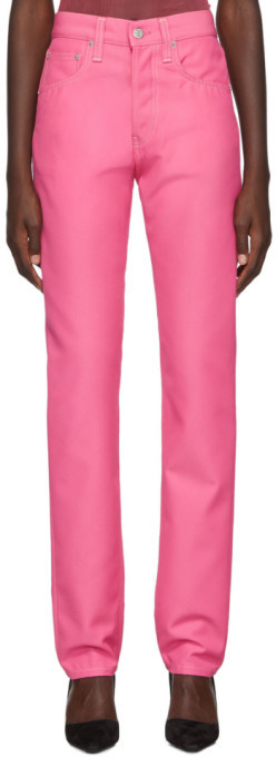 Helmut Lang Pink Masculine Straight Jeans