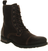 Ask The Missus Malachy Toe Cap Lace Boots