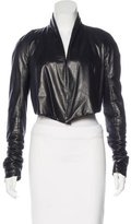 Gareth Pugh Cropped Leather Jacket