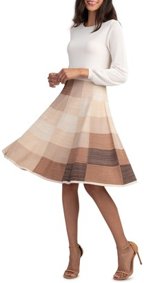Trina Turk Cork Circle Skirt Dress