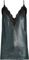 House of Holland Chain-mail knit cami top