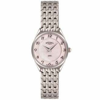 Rotary Women's Quartz Analogue Watch Stainless Steel Strap LB08000/18