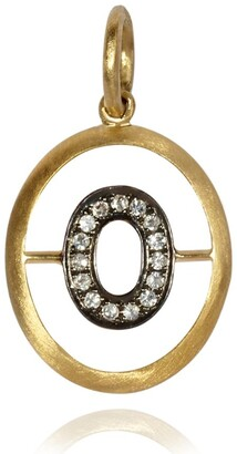 Annoushka Yellow Gold and Diamond Initial O Pendant