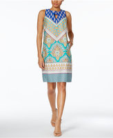 Nine West Printed Keyhole Shift Dress