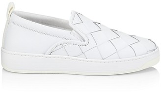 Bottega Veneta Checkerboard Leather Sneakers