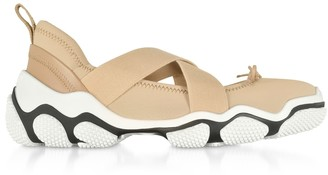 RED Valentino Nude Nylon Criss Cross Sneakers