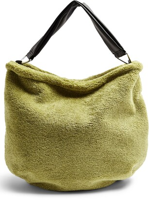 Topshop Faux Fur Hobo Bag