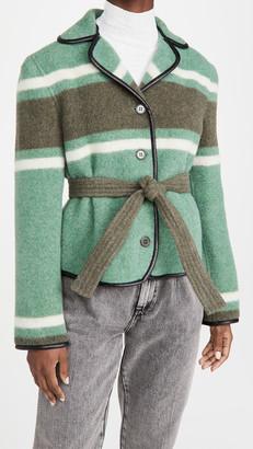 Philosophy di Lorenzo Serafini Striped Jacket with Belt