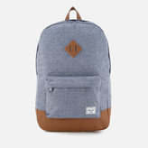 Herschel Heritage Backpack - Dark Chambray Crosshatch/Tan Synthetic Leather