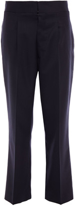 Maison Margiela Cropped Wool-blend Twill Straight-leg Pants