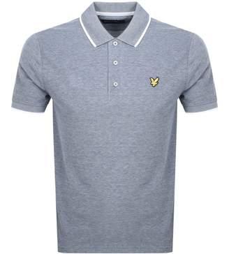 Lyle & Scott Oxford Tipped Polo T Shirt Navy