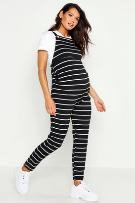 boohoo Maternity Stripe Dungaree